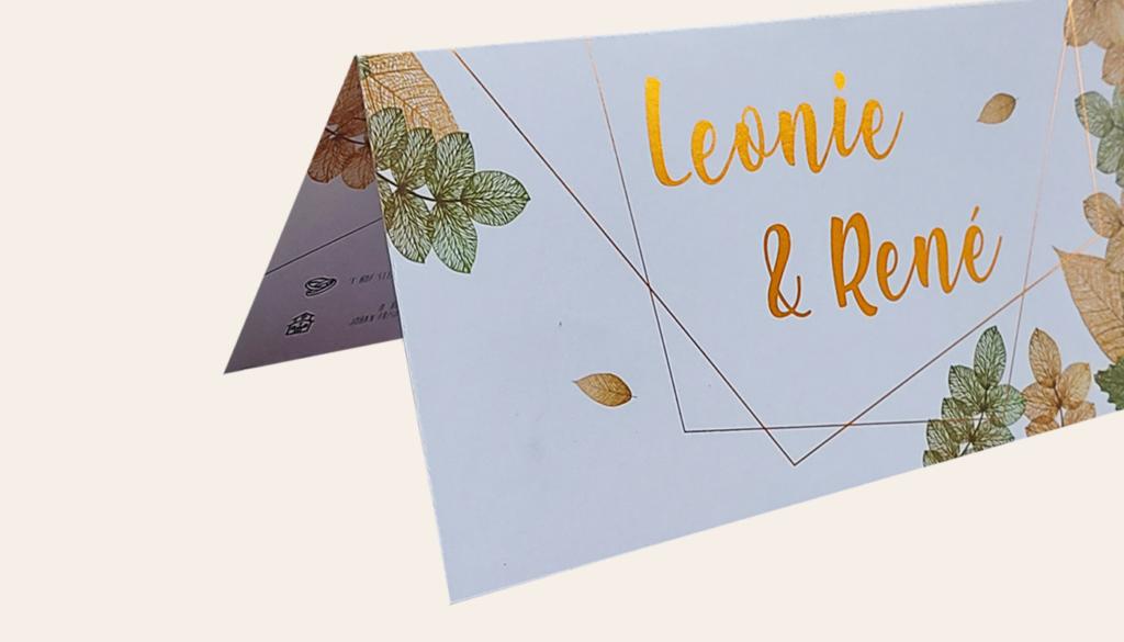Uitnodiging in botanische stijl Recto Verso