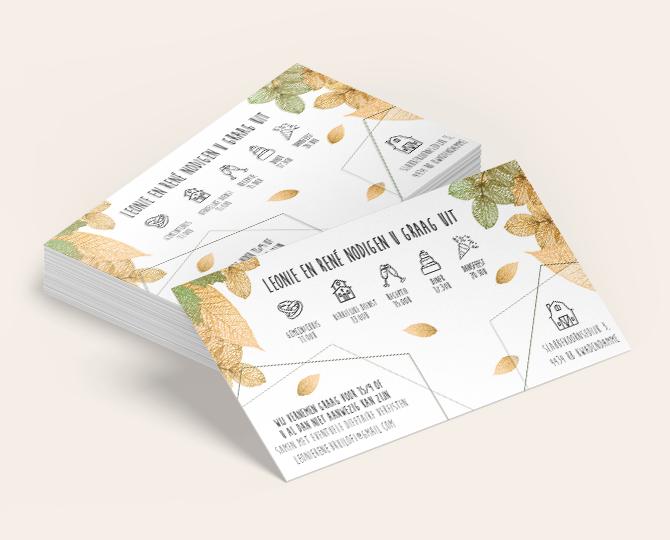 Huwelijk uitnodiging Stapel herfst