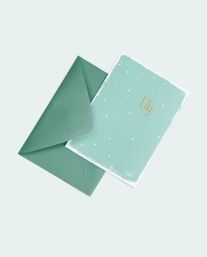ontwerp met gouden sterretjes geboorte