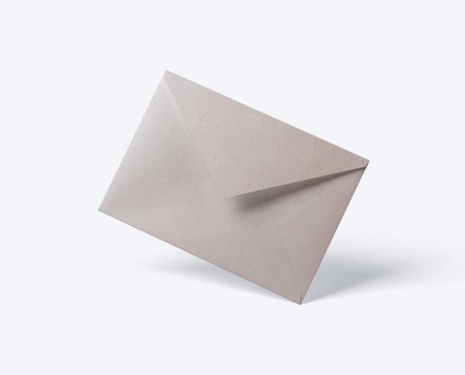 Enveloppe CR02 geboortekaartje communie huwelijk