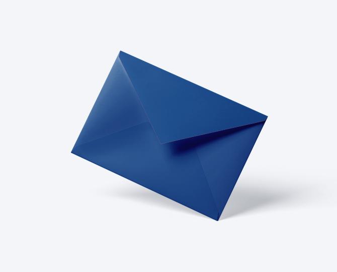 Enveloppe Donkerblauw geboortekaartje communie huwelijk
