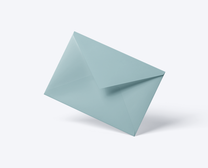 Enveloppe Lichtblauw geboortekaartje communie huwelijk