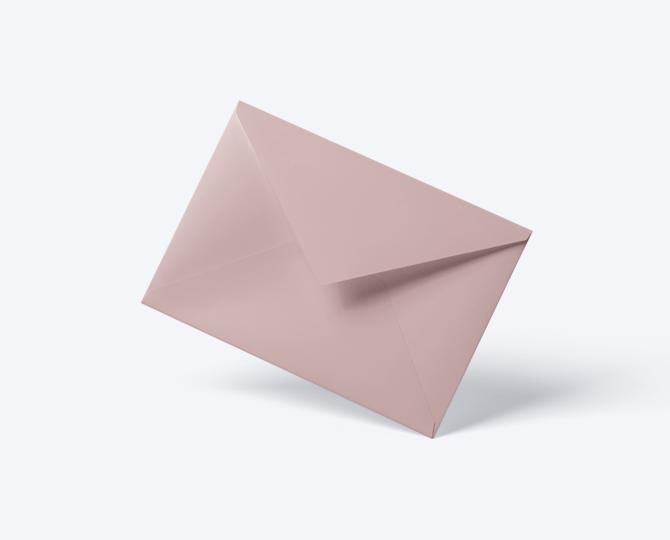 Enveloppe Roze geboortekaartje communie huwelijk