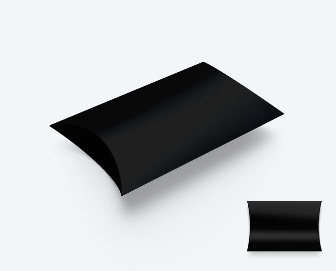 Pillowwdoosje Karton Black Zwart geboortekaartje communie huwelijk