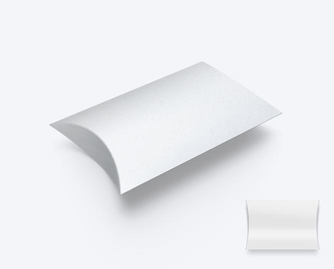Pillowwdoosje CR01 Eco Karton wit geboortekaartje communie huwelijk