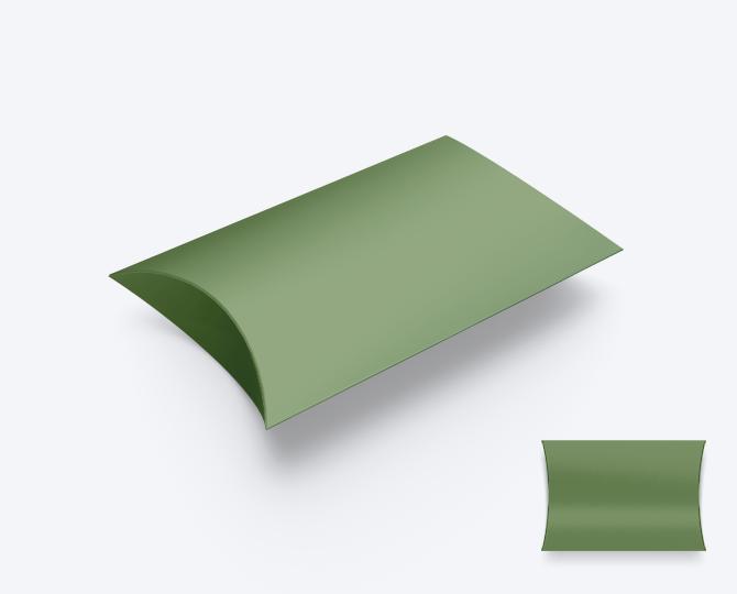 Pillowwdoosje Groen karton 07 geboortekaartje communie huwelijk