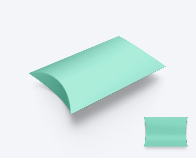 Pillowwdoosje Karton Munt Groen geboortekaartje communie huwelijk