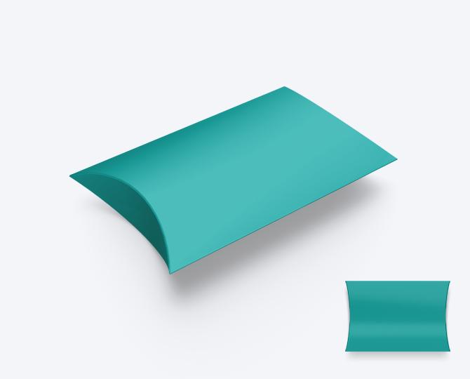 Pillowwdoosje Karton Riviera Blue Turquoise geboortekaartje communie huwelijk