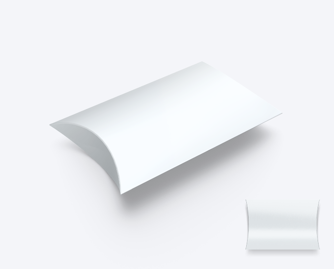 Pillowwdoosje Karton Wit geboortekaartje communie huwelijk