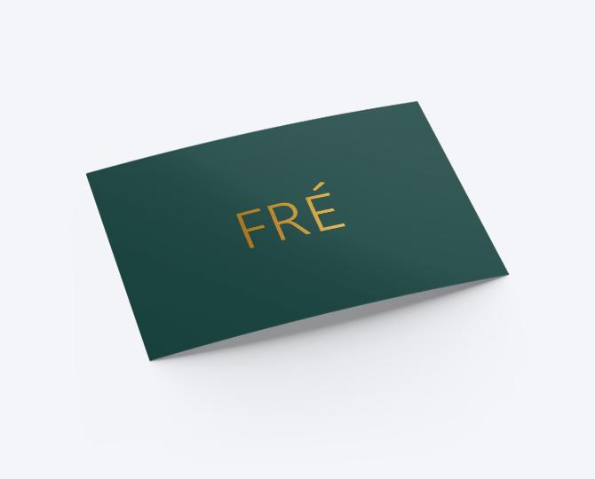 Geboortekaartje 004 Fré communie huwelijk UItnodigingen drukwerk donkergroen goudfolie minimalistisch